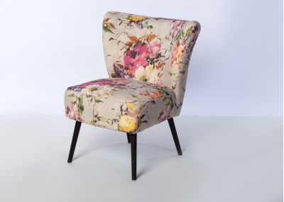 Chloe Chair Wenge Leg - Vienna Blush