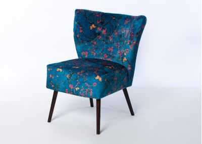 Chloe Chair Wenge Leg - Cherry Blossom