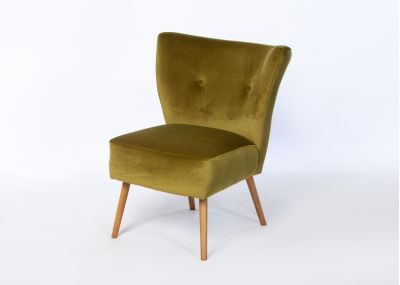Chloe Chair Beech Oak Stain Leg - Brussels Green