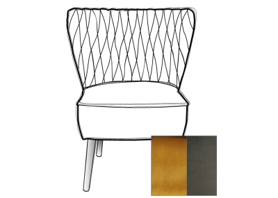 Olivia Chair Smoke Leg - Brussels Mustard & Brussels Grey Pipe