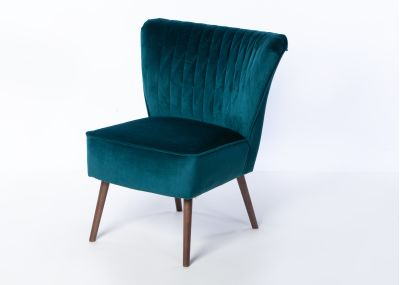 Olivia Chair Smoke Leg - Brussels Petrol