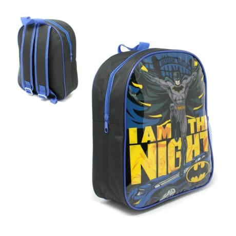 31cm Batman Backpack with side mesh pocket