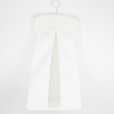 Nappy Stacker - White Waffle White Trim