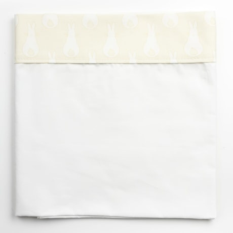 Cot Bed Sheet - Rabbit Trellis Cream