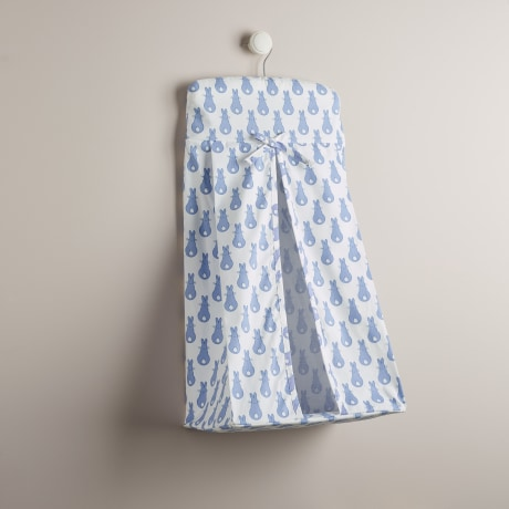Nappy Stacker - Rabbit Trellis Blue