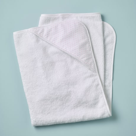 Hooded Towel - Spot Voile Pink