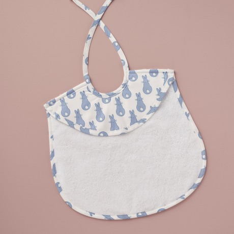 Bib - Rabbit Trellis Blue