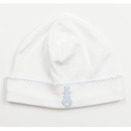 Embroidered Bunny Beanie - Blue