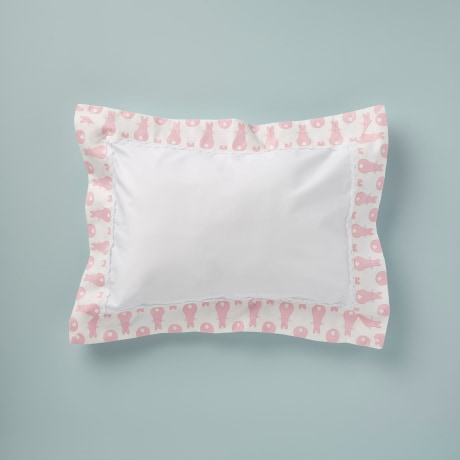 Pillowcase - Rabbit Trellis Pink