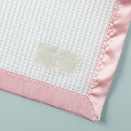Cotton Satin Edged Cot Blanket - Pink