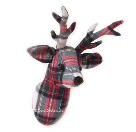 Plaid Stag Trophy Head
