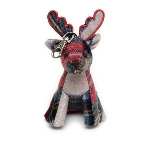Plaid Stag Key Ring