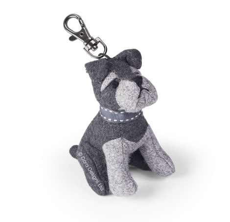 Sugar Bear The Schnauzer Dog Key Ring
