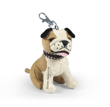 Thurston The Bulldog Dog Key Ring