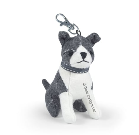 Theo The Staffie Dog Key Ring