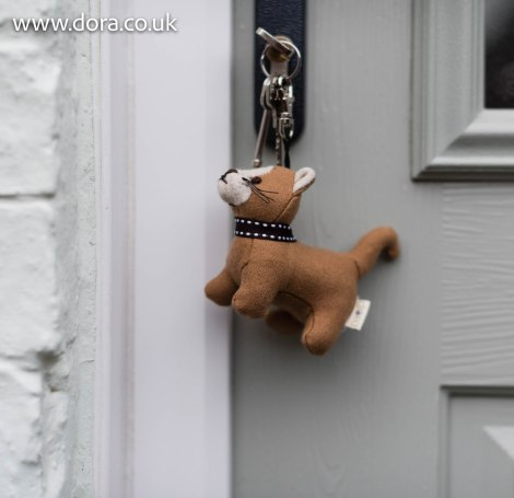 Rice Pudding Cat Key Ring