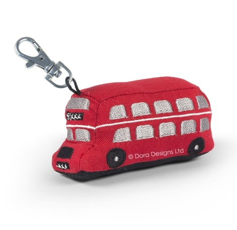Red Bus Key Ring