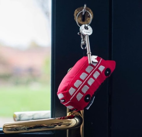 Red Bus Key Ring SALE 40% OFF