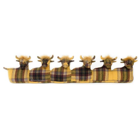 Plaid Highland Cow Draught Excluder