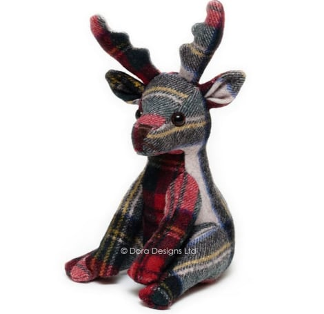 Plaid Stag Paperweight