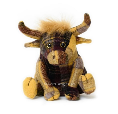 Plaid Highland Cow Paperweight