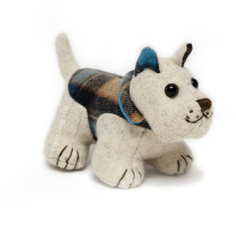 Plaid Westie Dog Paperweight