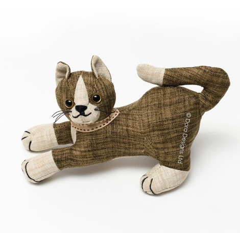 Khaki Tabby Cat Junior Paperweight - SALE 40% OFF