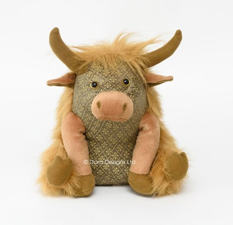 Angus Highland Cow Doorstop