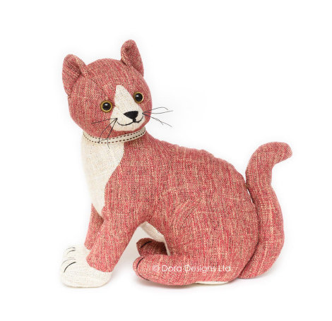 Red Tabby Cat Doorstop - SALE 40% OFF