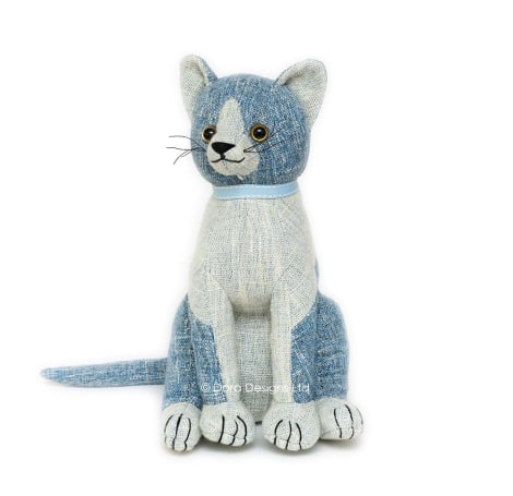 Blue Tabby Cat Doorstop - SALE 40% OFF