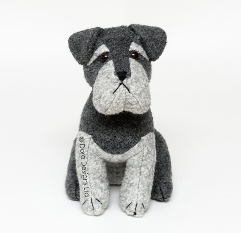 Sugar Bear Schnauzer Dog Doorstop