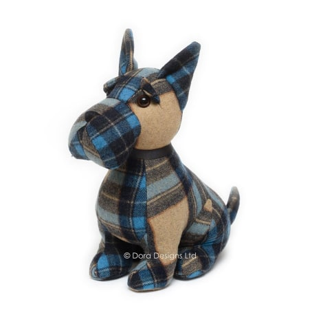 Plaid Scottie Dog Doorstop