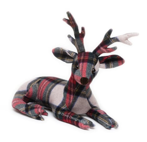 Plaid Stag Doorstop