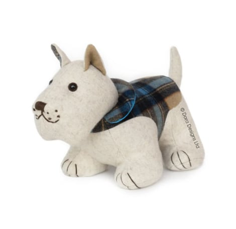 Plaid Westie Doorstop