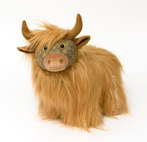 Fergus Highland Cow Doorstop