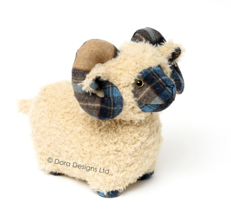 Plaid Mackenzie Sheep Doorstop