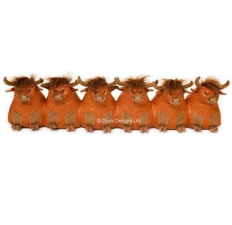 Catriona Senior Highland Cow Draught Excluder