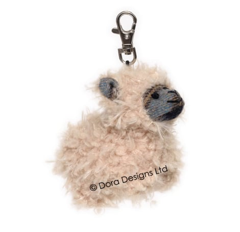 Plaid Mackenzie Sheep Key Ring