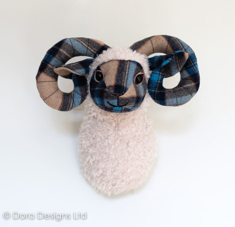 Plaid Ramsay Sheep Trophy Head