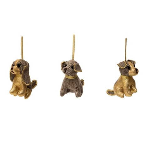 Christmas Doggie Decorations - Gold SALE 50% OFF