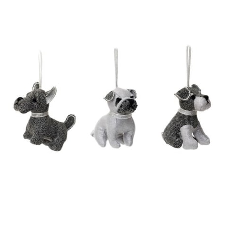 Christmas Doggie Decorations - Silver SALE 50% OFF