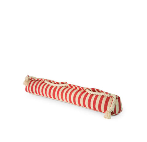 Red Stripe Draught Excluder SALE 50% Off