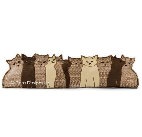 Kitties Row of Cats Draught Excluder