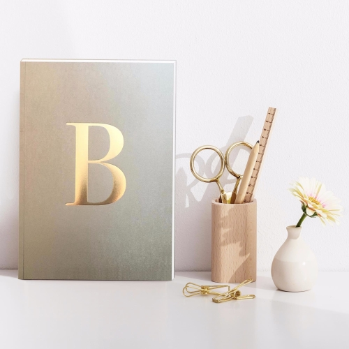 Letter B Gold Notebook