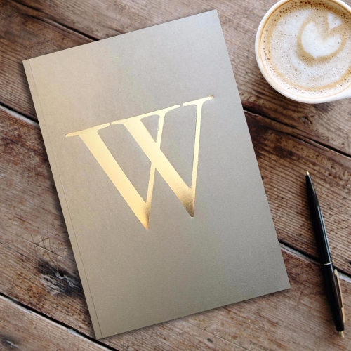 Letter W Gold Notebook