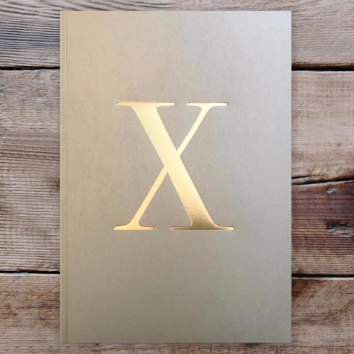 Letter X Gold Notebook
