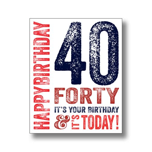 40 Today - Blue