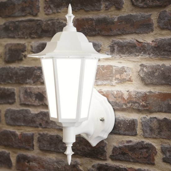 Manta 7W LED Upward Wall Lantern White