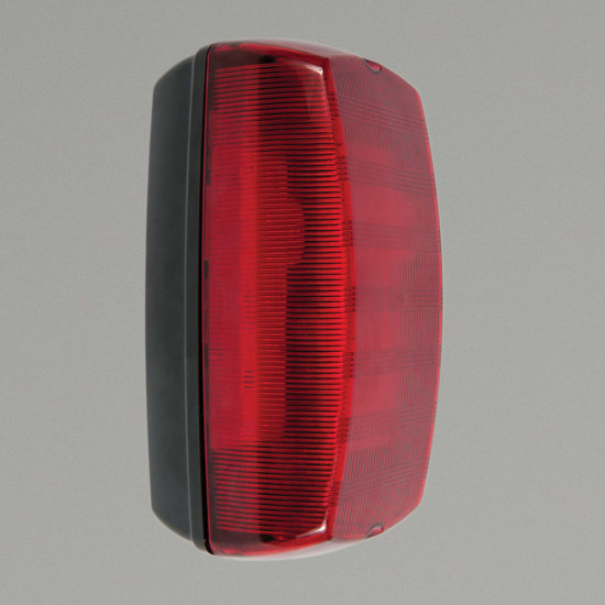 Monda 7W 4000K LED Red Polycarbonate Bulkhead