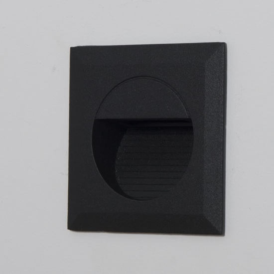Carpio 1.4W Cool White LED Square Recessed Wall Wash Light Anthracite